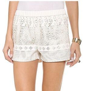 DOLCEVITA Cream Lisbeth FauxLeather Pattern Shorts